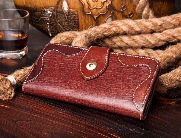 Long Wallet, Leather Long Wallet, Womens Wallet, Personalized Wallet Wallet, Leather clutch MS109 - Leajanebag