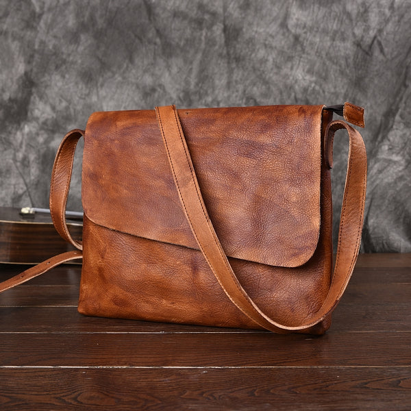 Leather Messenger Bag, School Bag,Leather Shoulder Briefcase JZ005 - Leajanebag