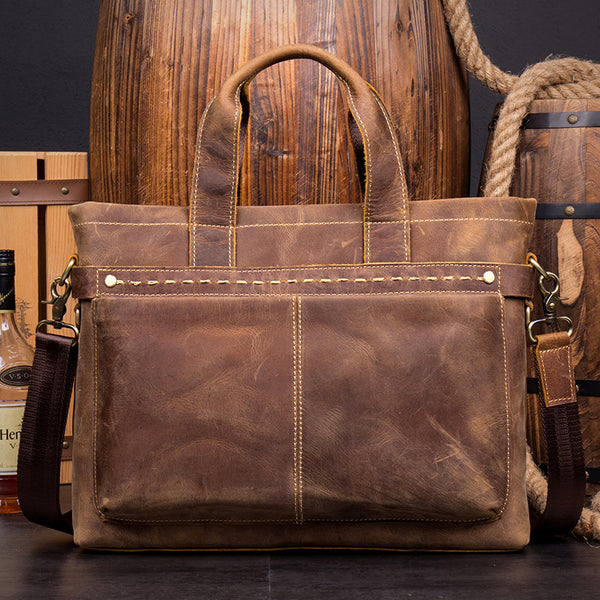 Leather Business Bag, Handmade Briefcase, Laptop Bag MS148 - Leajanebag