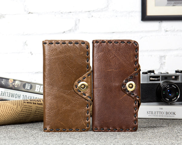 Personalized Leather Wallet, Handmade Money Wallet, Long Wallet MS106 - Leajanebag