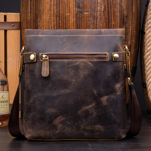 Handmade Genuine leather Messenger Bag, Leather Crossbody Bag  MS064 - Leajanebag