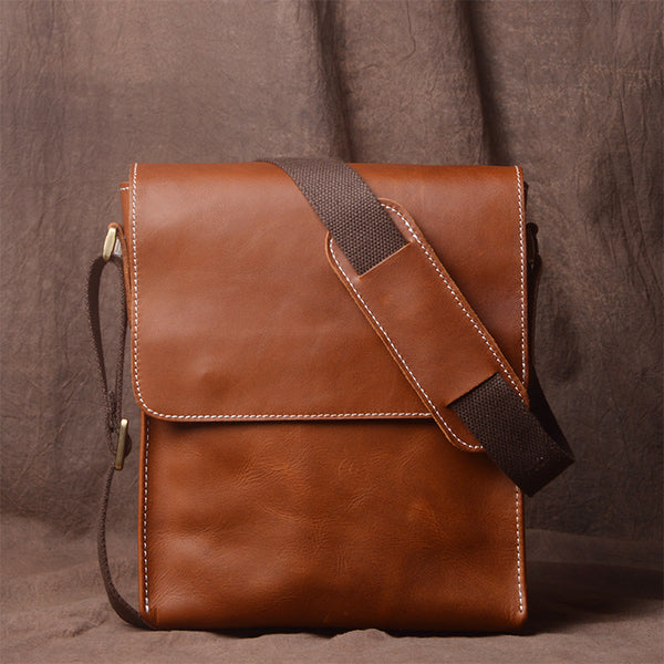 Leather Crossbody Bag, Leather Messenger Bag, School Bag,Handmade Bag JZ007 - Leajanebag