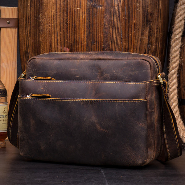 Leather Satchel, Leather Bag, Laptop Business Bag, Messenger Bag, BURGHLEY SATCHEL MS062 - Leajanebag
