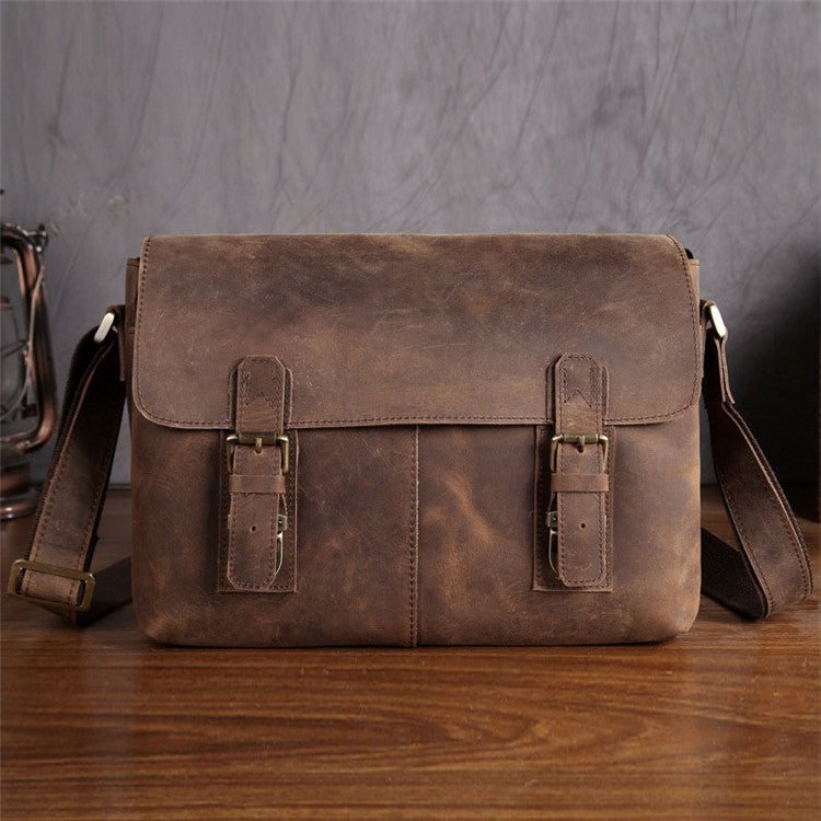Handmade Genuine Leather Messenger Bag, Leather Laptop Bag, Business Bag 6002LR