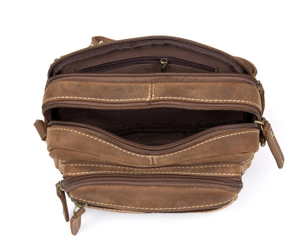 Leather Waist Bag, Fanny Pack, Genuine Suede Bum Bag MS140 - Leajanebag