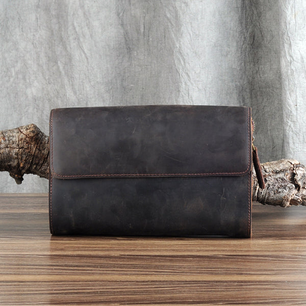 Leather Clutch, Big Leather Clutch, Leather Handbag Clutch, Handmade Leather Handbag GZ044 - Leajanebag