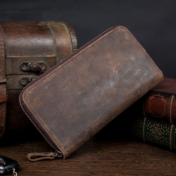 Genuine Leather Wallet, Men Wallet, Long Money Wallet MS072 - Leajanebag