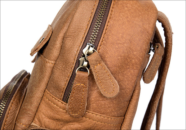 Handmade Leather Backpack, Classic Backpack, Travel Backpack MS086 - Leajanebag