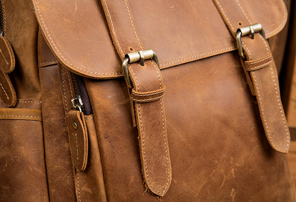 Vintage Leather Backpack,  Handmade Classic Backpack, Travel Backpack MS158 - Leajanebag