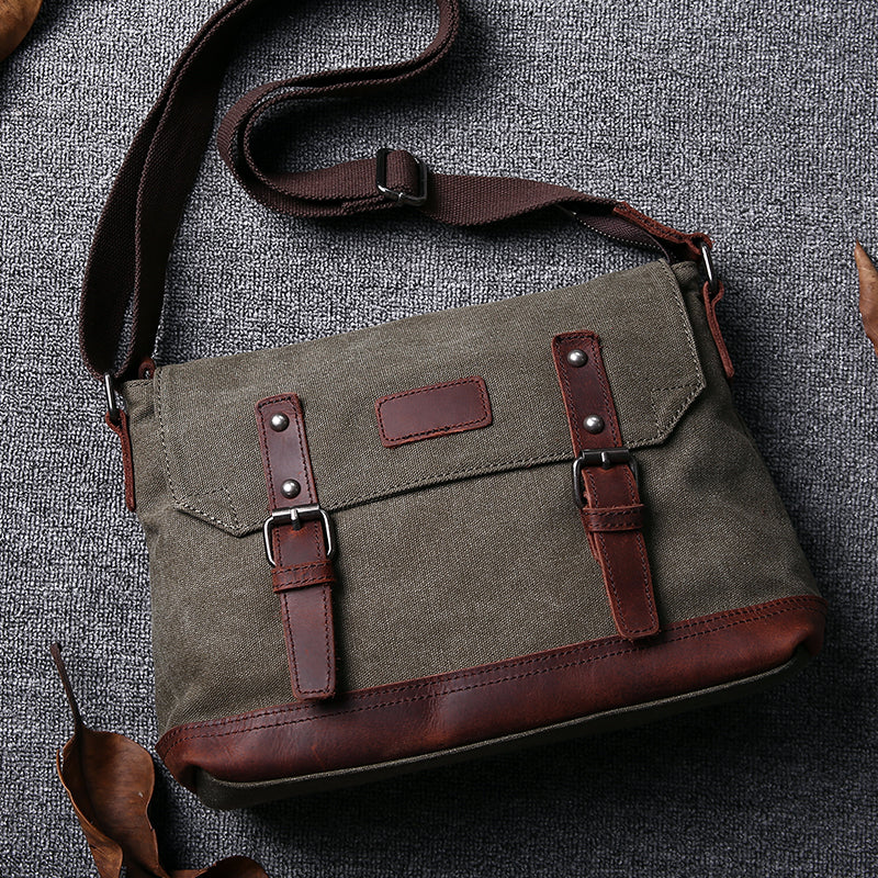 Satchel, Leather Satchel, Mens Satchel, Canvas Satchel, Satchel Men, Canvas Messenger Bag  JC024 - Leajanebag