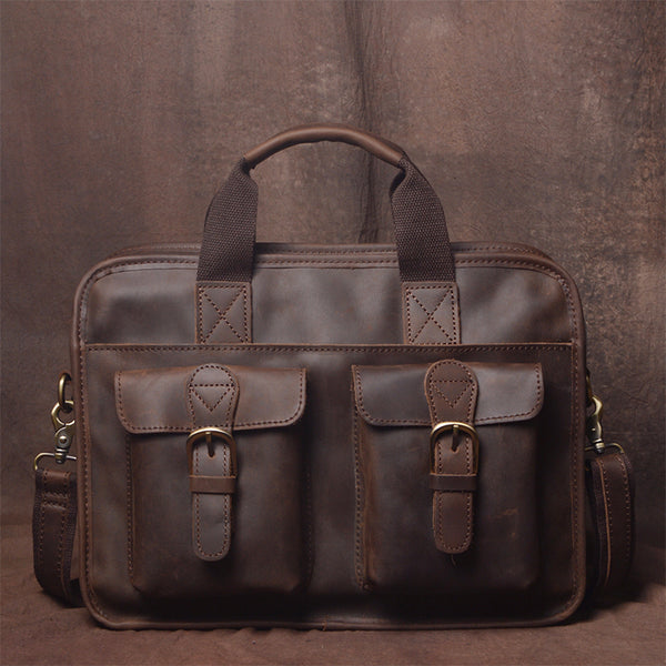 Leather Messenger Bag for Men, Leather Laptop Bag JZ019  - Leajanebag