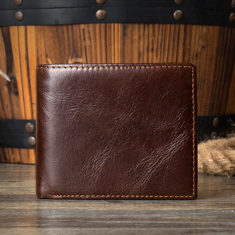 Mens leather wallet, Leather wallet, Personalized wallet, Monogrammed wallet MS096 - Leajanebag