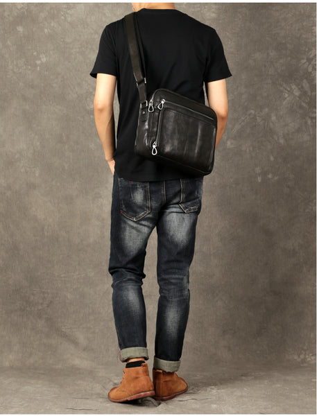 Leather Crossbody Bag,Handmade Leather Bag, Genuine Leather Briefcase GZ031 - Leajanebag