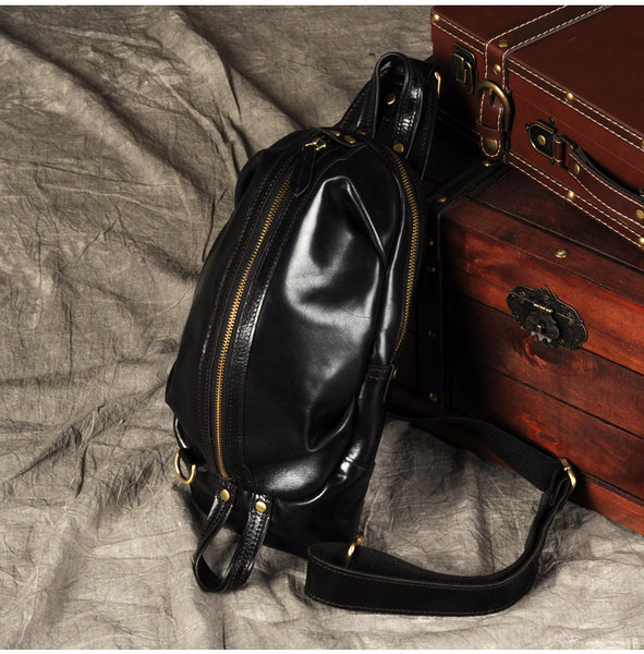 Leather Chest Bag, Handmade Bag, Men's Chest Bag, Bag and Purse, Vintage Travel Bag GZ045 - Leajanebag