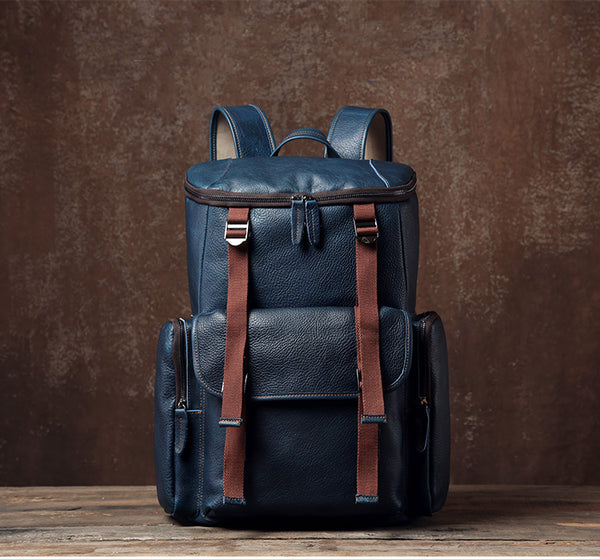 Travel Backpack, School Backpack, Large Leather Backpack, Mens Shoulder Bag,Gift GLT093 - Leajanebag