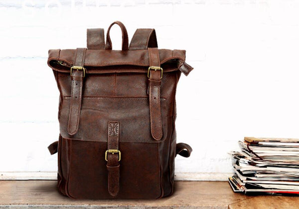 Xmas Gift, Leather Backpack,Handmade Leather Backpack,Travel Backpack MT002 - Leajanebag