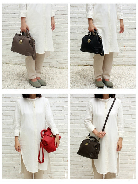 Handmade Leather Tote Bag, Women Shoulder Bag, Working Bag SL029 - Leajanebag