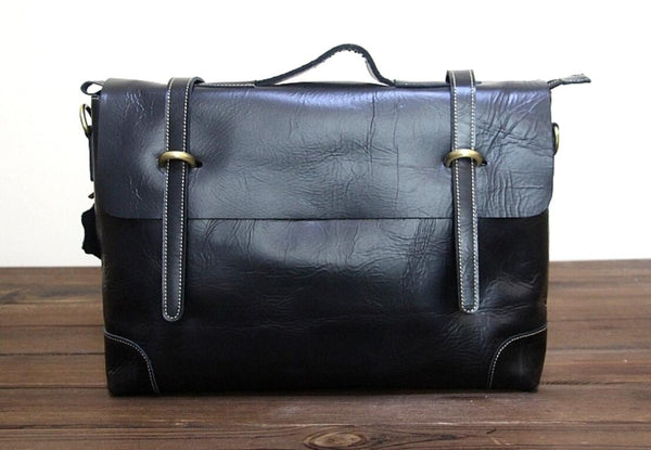 New Briefcase,Gifts For Mens,Leather Briefcase,15 inch laptop bag, Cross Body Bag,Laptop Bag 0342 - Leajanebag