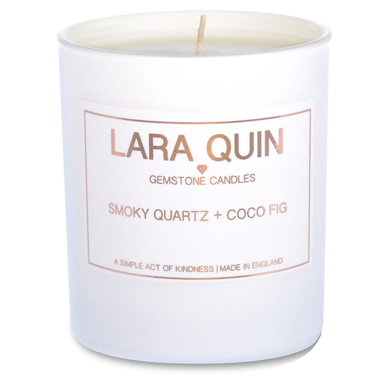 Smoky Quartz + Coco Fig | Luxury Candles