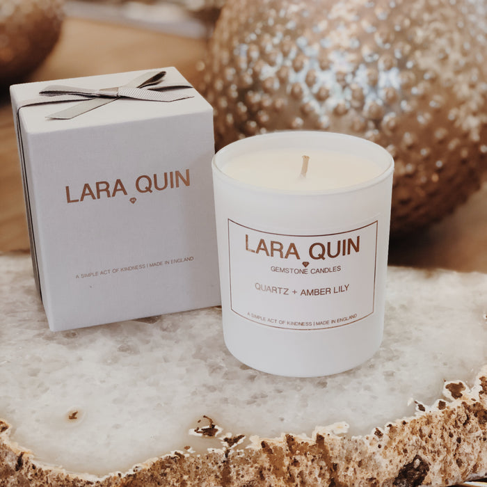 Quartz + Amber Lily | Luxury Candles