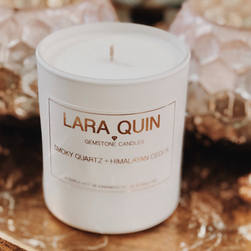 Smoky Quartz + Himalayan Cedar | Luxury Candles