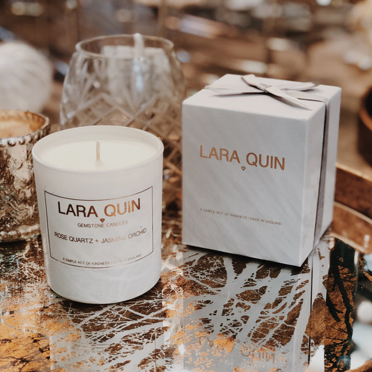 Rose Quartz + Jasmine Orchid | Luxury Candles