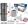 CanaVac Ethos CV700AP Compact Central Vacuum Cleaner With European Wessel Werk Turbo Package - 700AW for homes up to 8,000 Sq.F. - Super Vacs