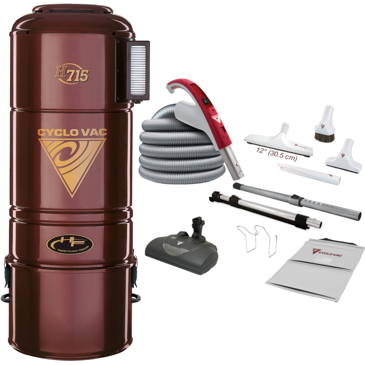 Cyclovac H715 with EBK360 Electric Kit - Super Vacs