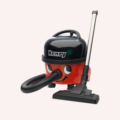 Numatic HVR200A Henry - High Efficiency Motor Canister Vacuum Cleaner- 9L Capacity with AS1 Professional Accessory Set (Red) - Super Vacs