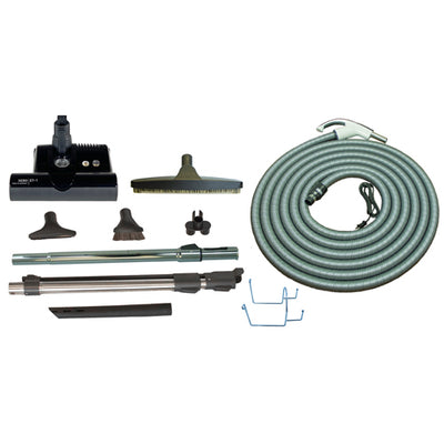 SEBO Premium Central Vacuum Kit with ET-1 Electric Power Nozzle (3 Colors, 30-35FT Options) - Super Vacs