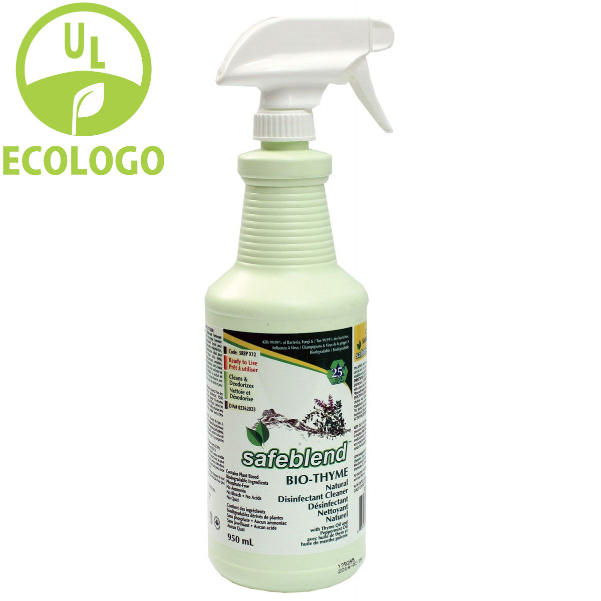 Safeblend Bio-Thyme EcoLogo Cleaner and Disinfectant - 950ml - Super Vacs