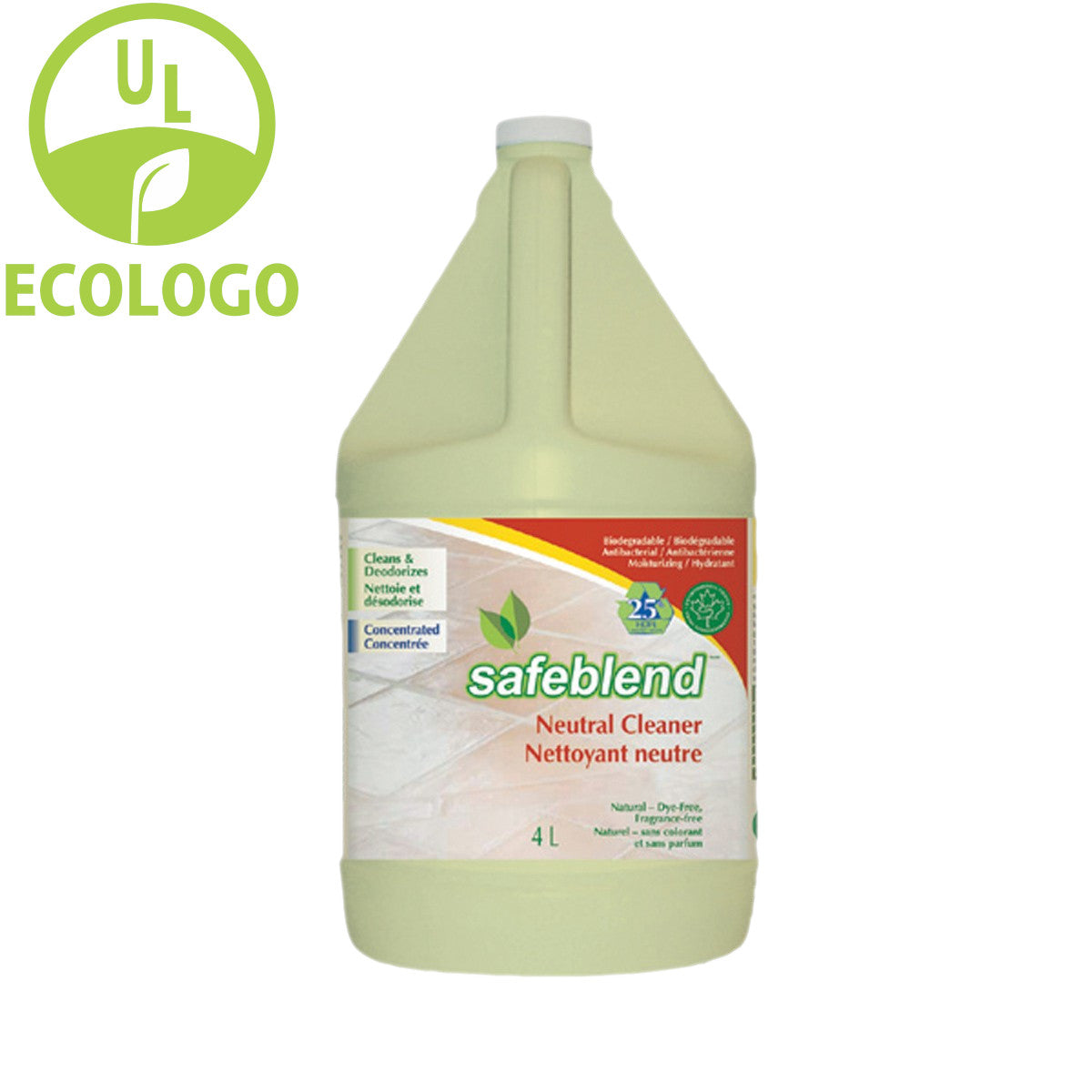 Safeblend EcoLogo Neutral Cleaner (Fragrance Free) - 4L - Super Vacs
