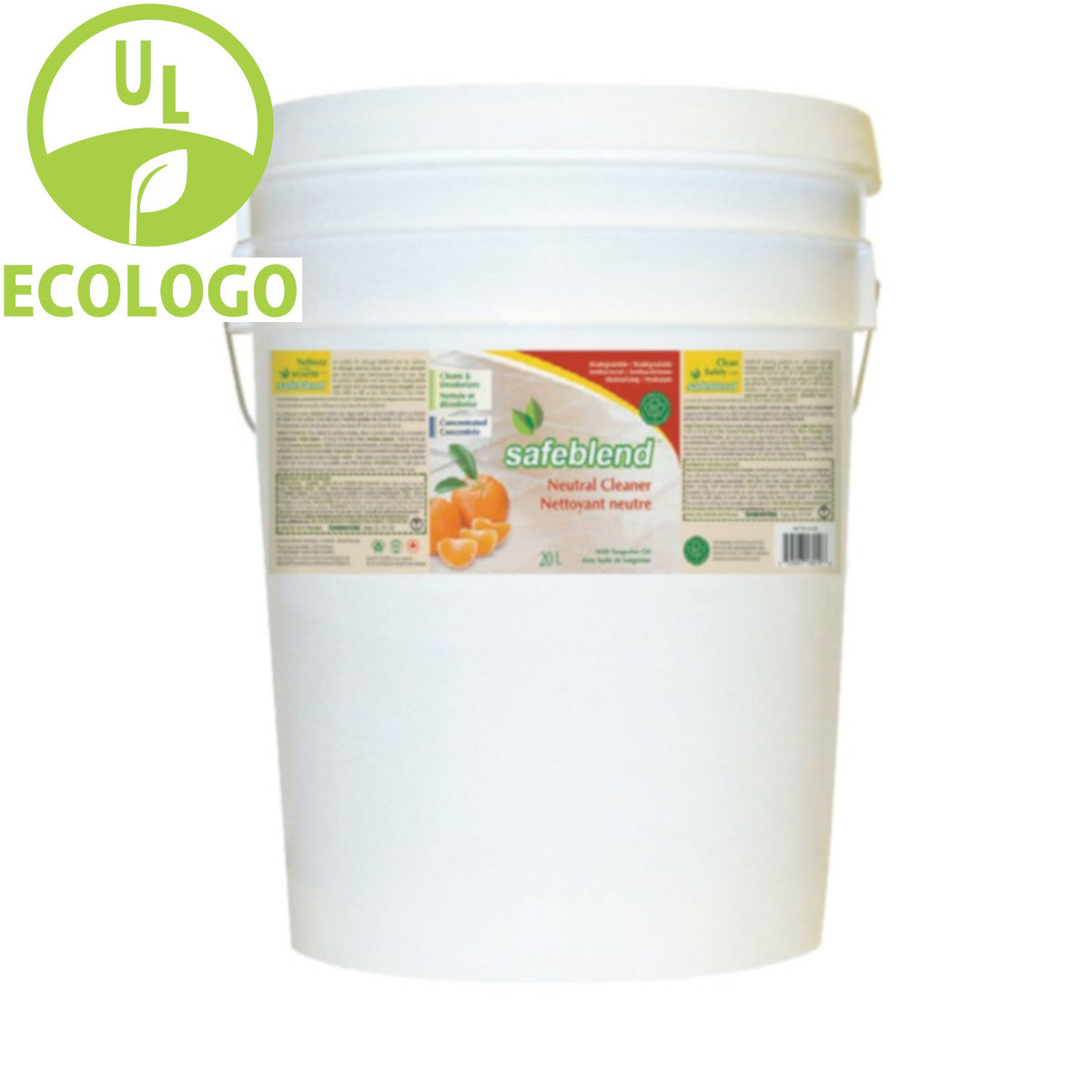 Safeblend EcoLogo Neutral Cleaner (Tangerine Scent) - 20L - Super Vacs