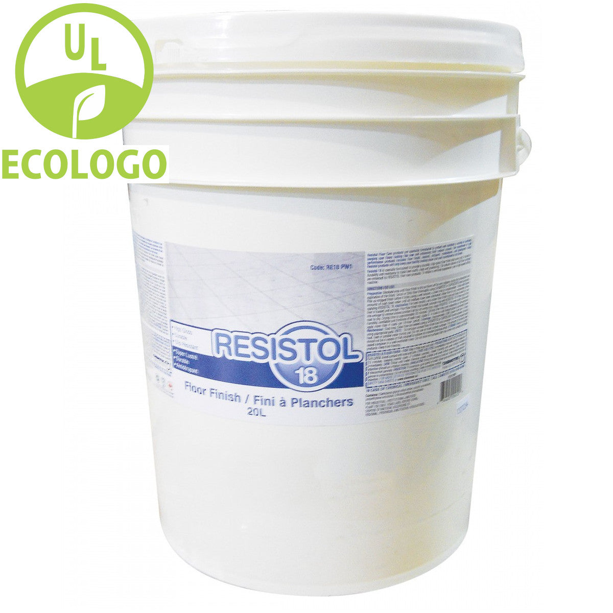 Resistol 18 - 18% Solids Floor Finish - 20L - Super Vacs