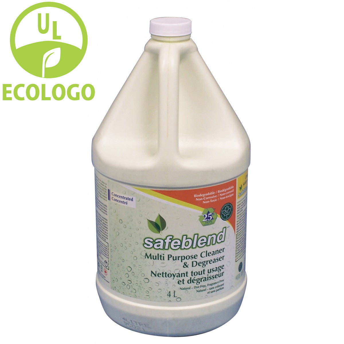 Safeblend EcoLogo Multi-Purpose Cleaner/Degreaser (Fragrance Free) - 4L - Super Vacs