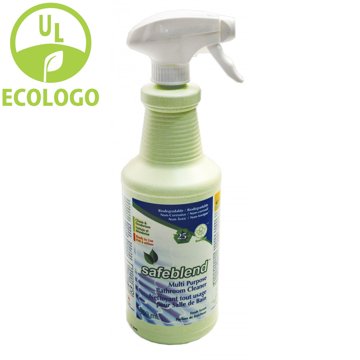 Safeblend Ready to Use EcoLogo Bathroom Cleaner - 950ml - Super Vacs