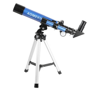 AOMEKIE F40040M Beginner Level Tabletop Telescope With Compact Tripod  Compass 20 32x Perfect For Kids