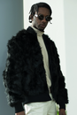 Black Elmer Faux Fur Bomber - The New County