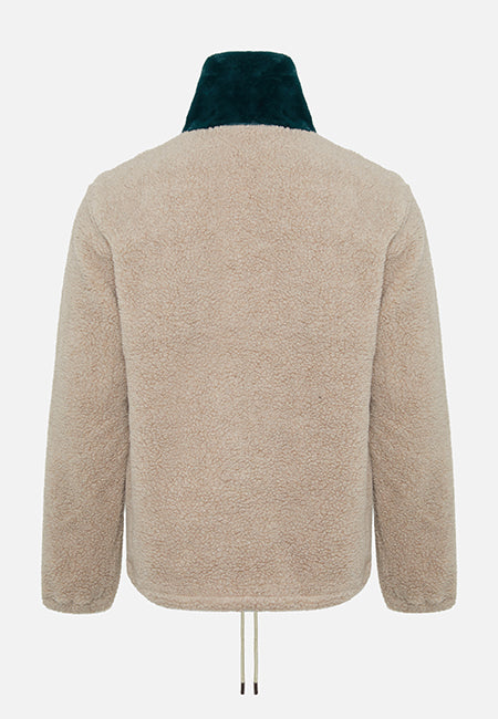 The Owens Khaki High Neck Sweatshirt - The New County