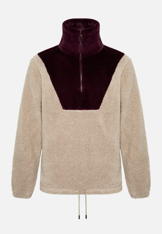 The Owens Burgundy High Neck Sweatshirt