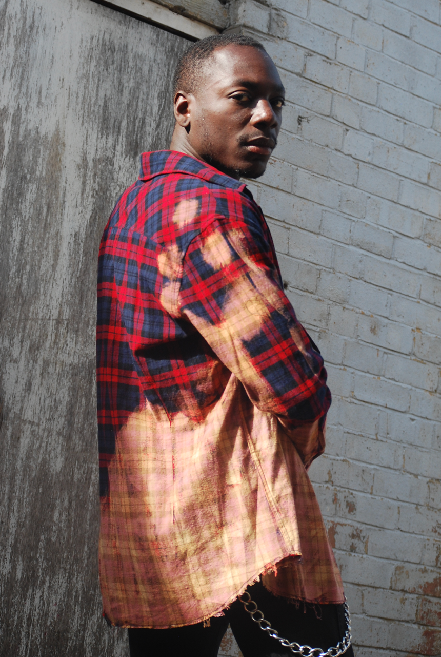 The Stan Red Acid Wash Checked Shirt - The New County