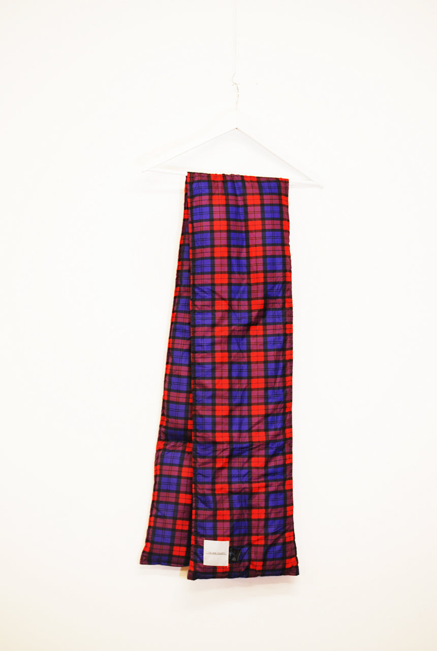Plaid Quilted Puffa Scarf - The New County