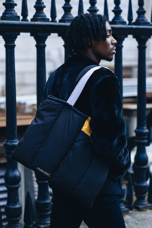Black Puffa Tote Bag - The New County