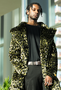 Leopard Henley Oversized Faux Fur Coat - The New County