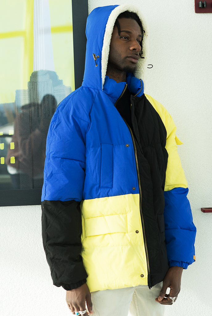 Multicolour Buckley Oversized Puffa Jacket - The New County