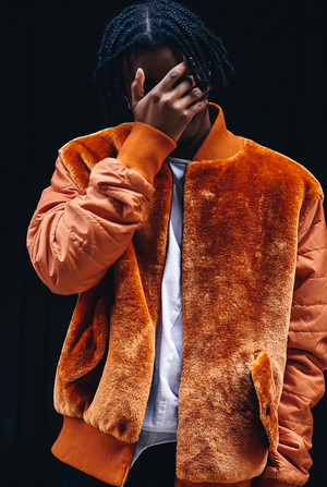 Rust Teddy Bear Faux Fur Bomber Jacket - The New County