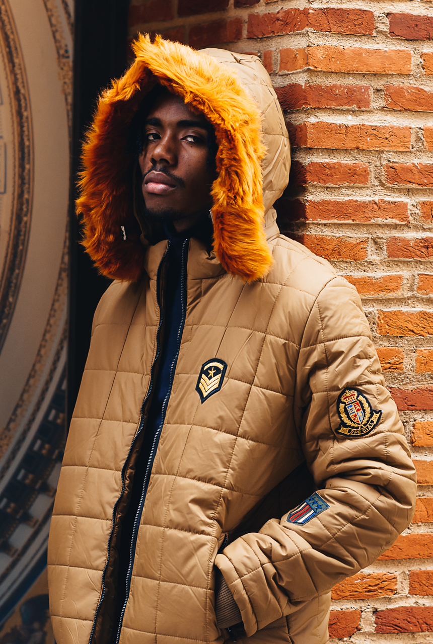Warner Padded Jacket with Oversized Detachable Hood & Fur - The New County