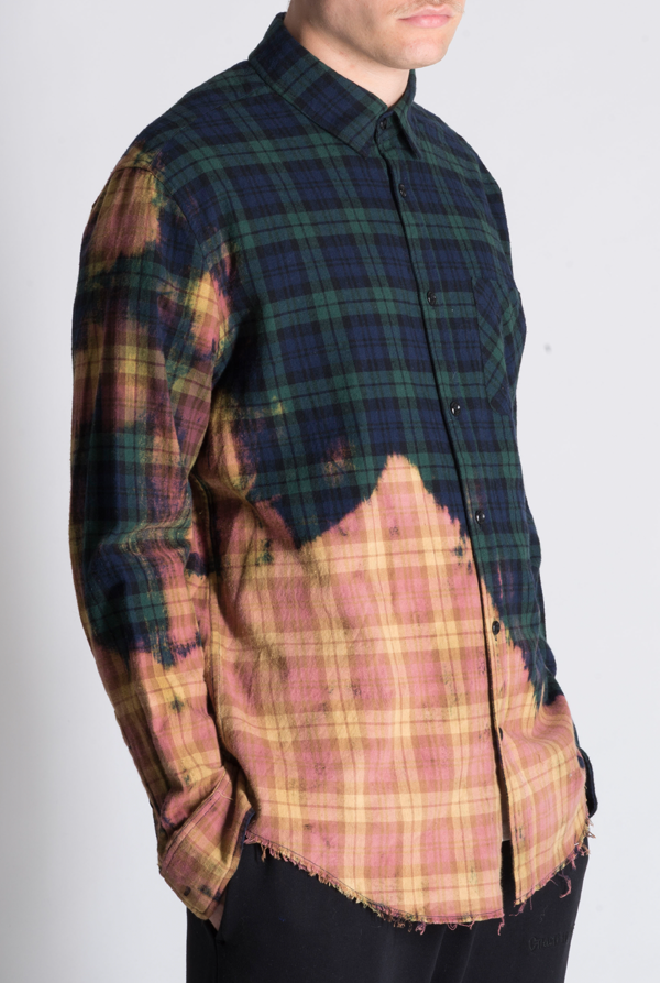 The Stan Green Acid Wash Checked Shirt - The New County