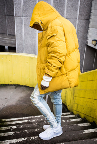 Mustard Buckley Oversized Puffa Jacket - The New County