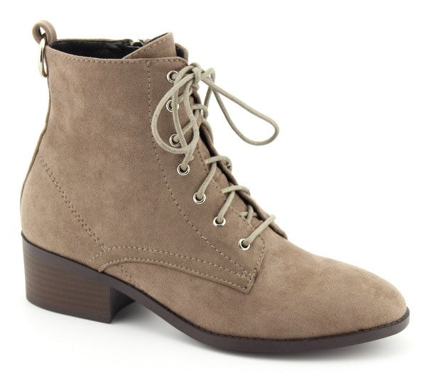 shoes boots combat style taupe ankle boots with heel